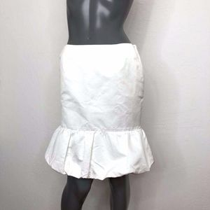 Club Monaco Pleat Bubble Hem White Skirt Pockets 4